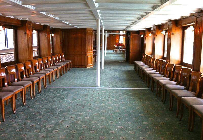 Intérieur croisière bateaux de Paris